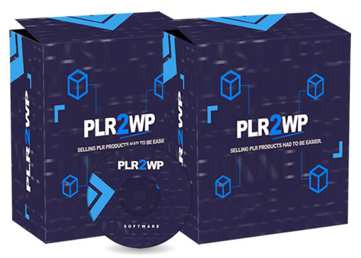 This is a product image of PLR-2-WP Software